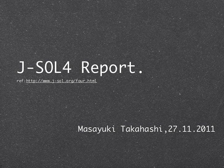 Jsol4 report