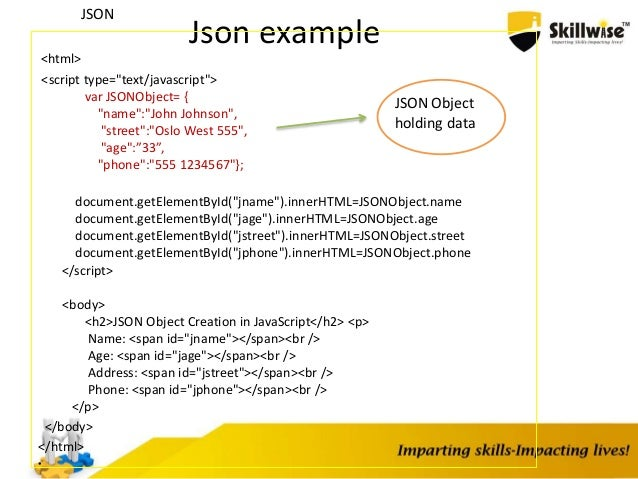 how to build an array inside json object