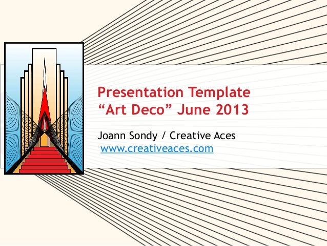 """Art Deco"" Free PPT Template Jun2013"