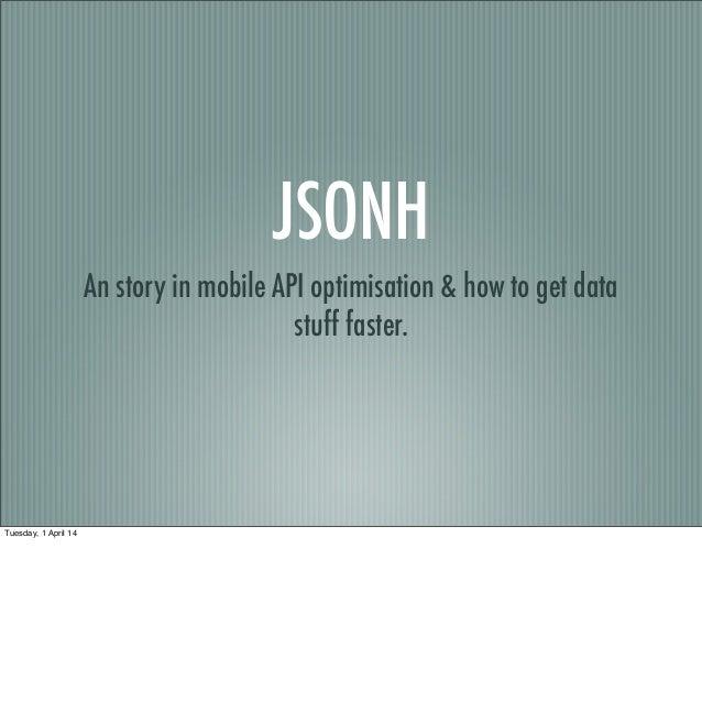 JSONH & Mobile APIs
