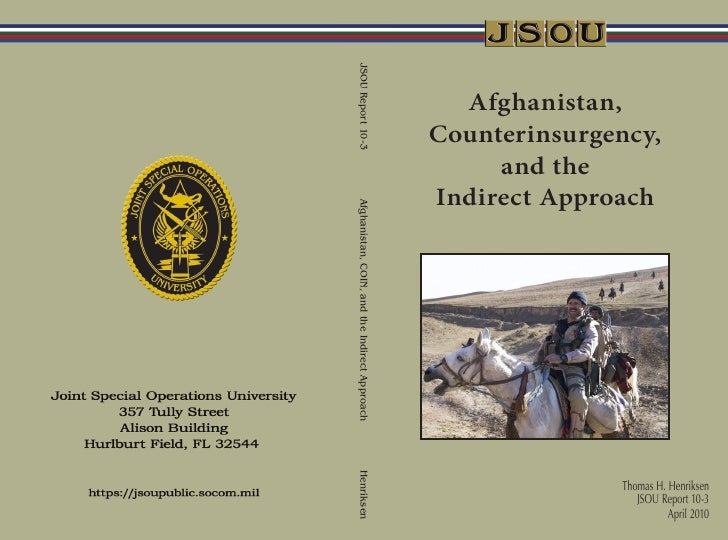 JSOU - Afghnaistan, Coin, and the Indirect Approach 2010