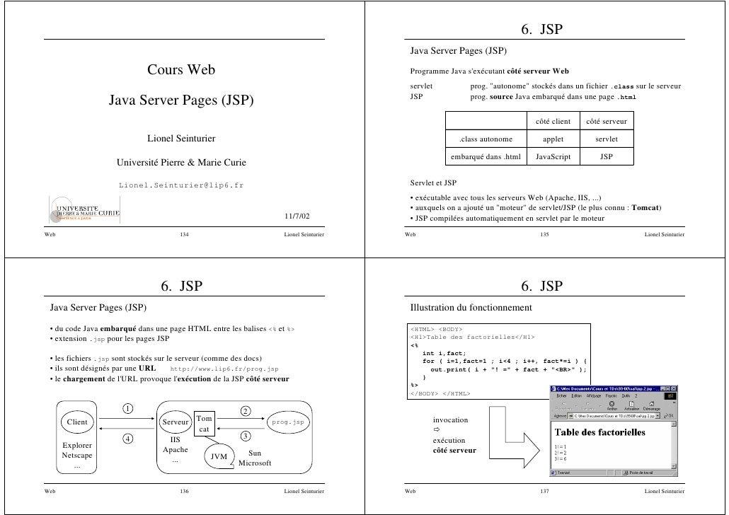 6. JSP                                                                                           Java Server Pages (JSP)  ...