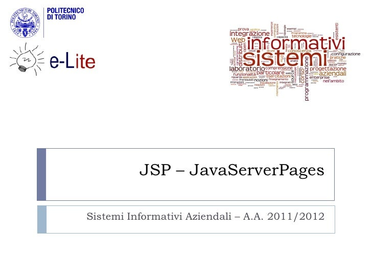 Introduction to JSP pages