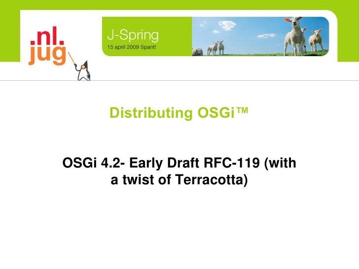 Distributing OSGi