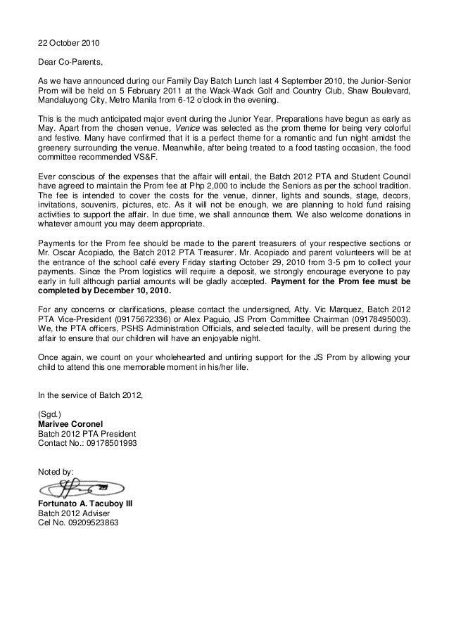 JS Prom Letter Revised Pdf