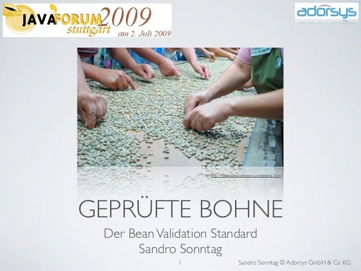 Geprüfte Bohne - Der Bean Validation Standard
