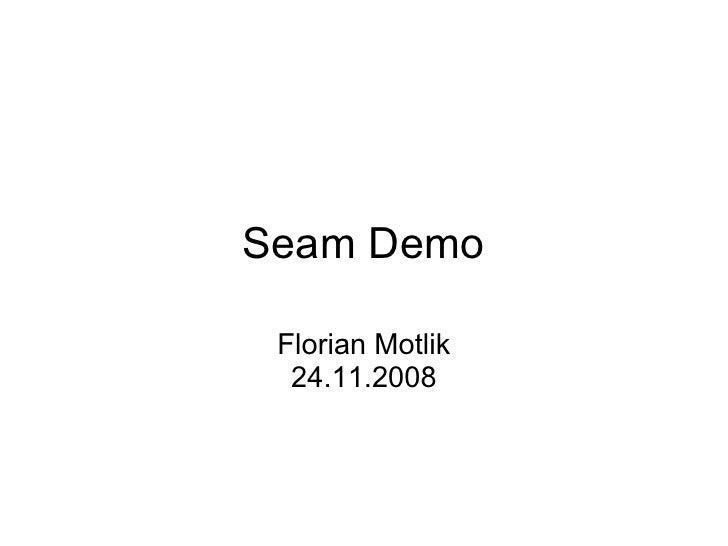 Seam Demo   Florian Motlik   24.11.2008
