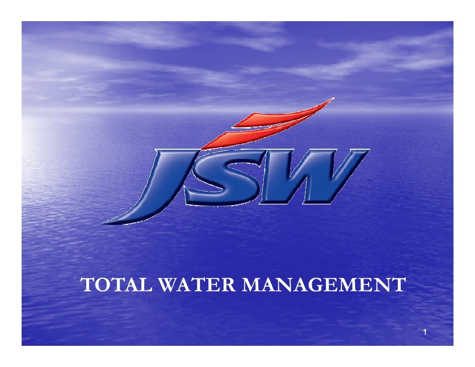TOTAL WATER MANAGEMENT                          1