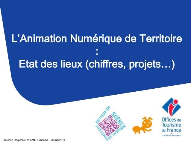 L'Animation Numérique de Territoire : Etat des lieux (chiffres, projets…) Journée Régionale de l'ANT Limousin – 20 mai 2014