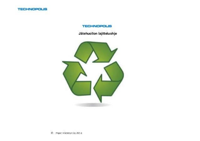 Jätehuollon lajitteluohje
