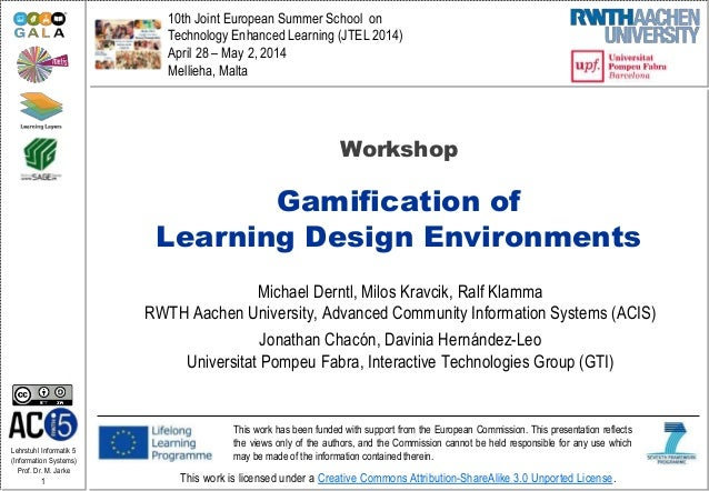 Gamification of Learning Design Environments (Workshop)