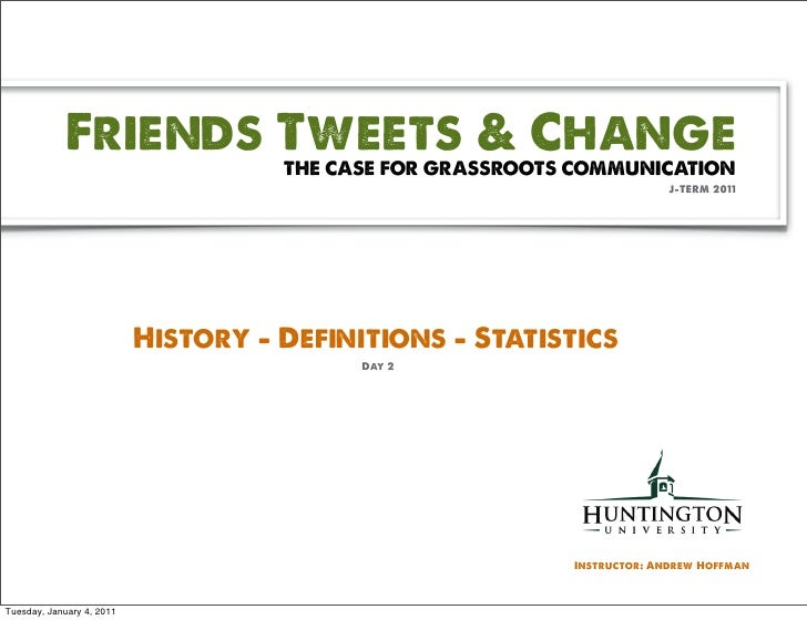 JTerm Day 2 - History, Definitions & Stats
