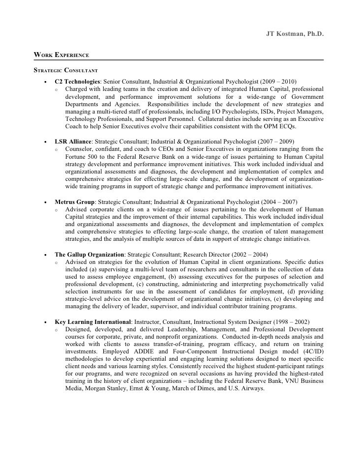cv graduate school psychology
