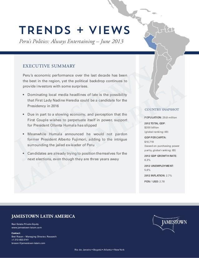 Jamestown Trends + Views   Peru -  20130722
