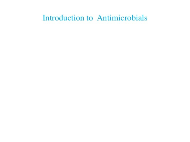 Introduction to Antimicrobials