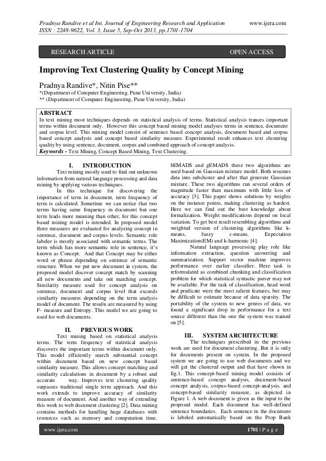 Pradnya Randive et al Int. Journal of Engineering Research and Application ISSN : 2248-9622, Vol. 3, Issue 5, Sep-Oct 2013...