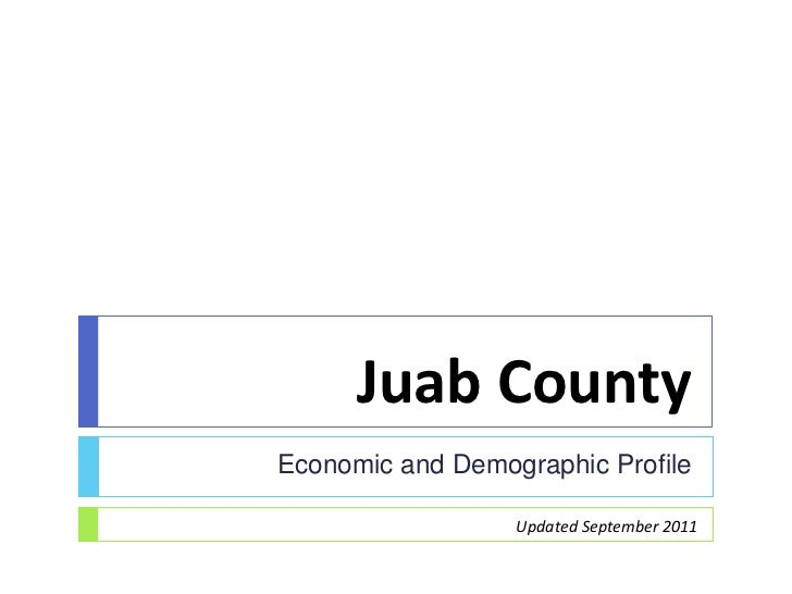 Juab CountyEconomic and Demographic Profile                  Updated September 2011