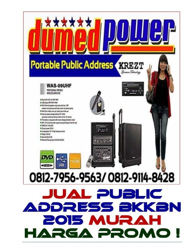 Public Address BKKBN 2015 - Portable Wireless Amplifier