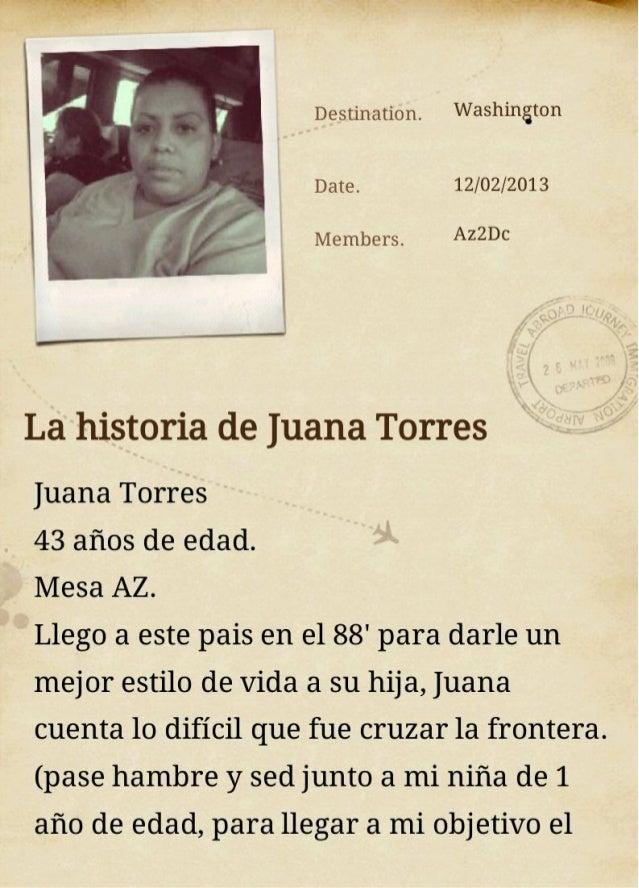 Historia de Juana torres