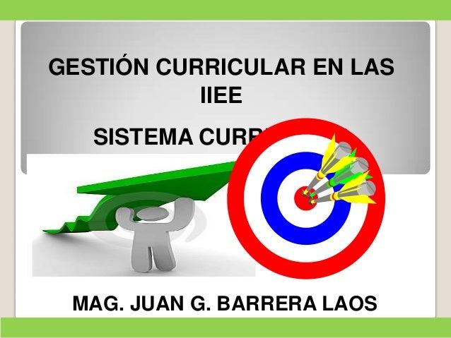Sistema Curricular  - Juan barrera