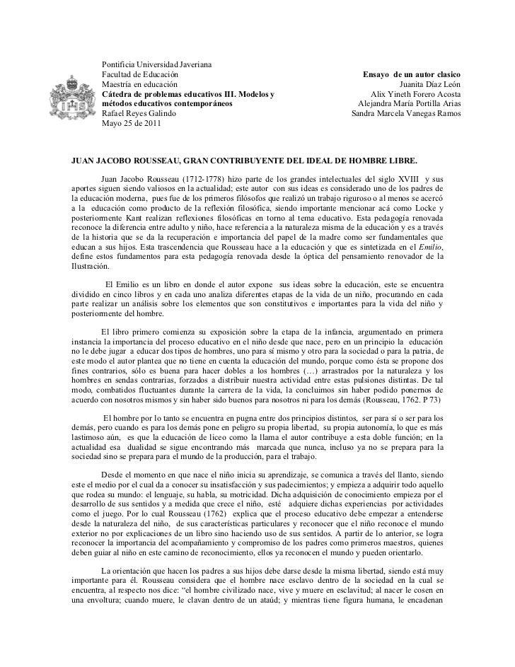 Pontificia Universidad Javeriana         Facultad de Educación                                                         Ens...