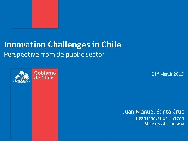 Desafíos de innovación en Chile: mirada del sector público