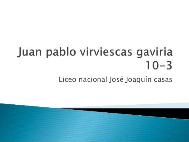 Juan pablo virviescas gaviria