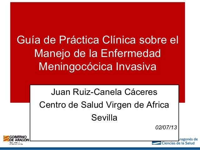 Diagnóstico clínico de la Enfermedad Meningocócia Invasiva (EMI) y manejo en atención primaria