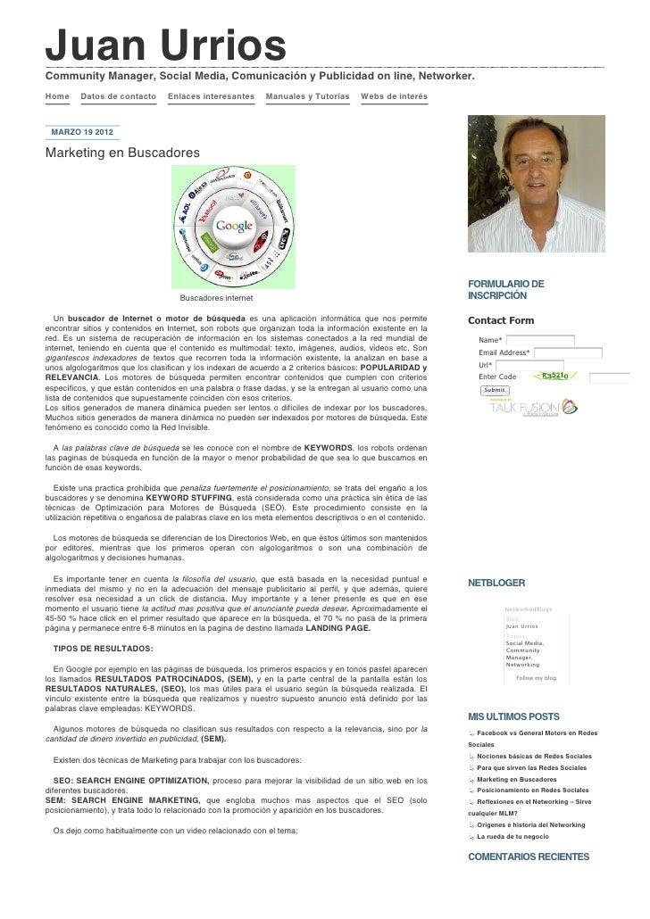 Juan urrios » marketing en buscadores