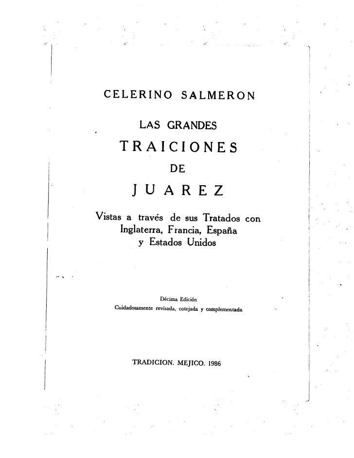 Las Grandes Traiciones de Juárez de Celerino Salmerón