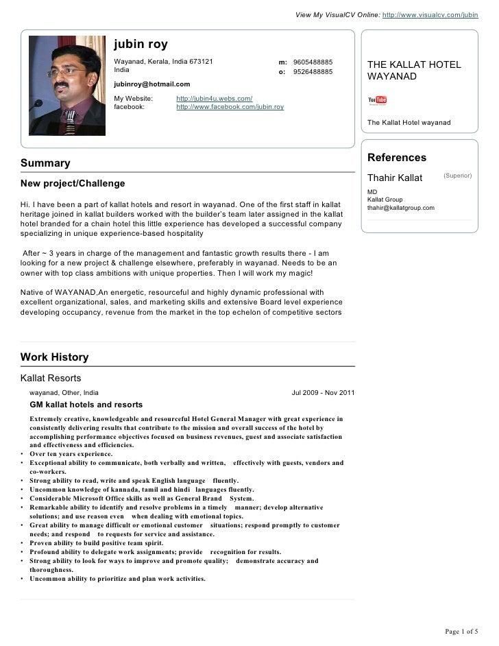 jubin roy visual cv resume