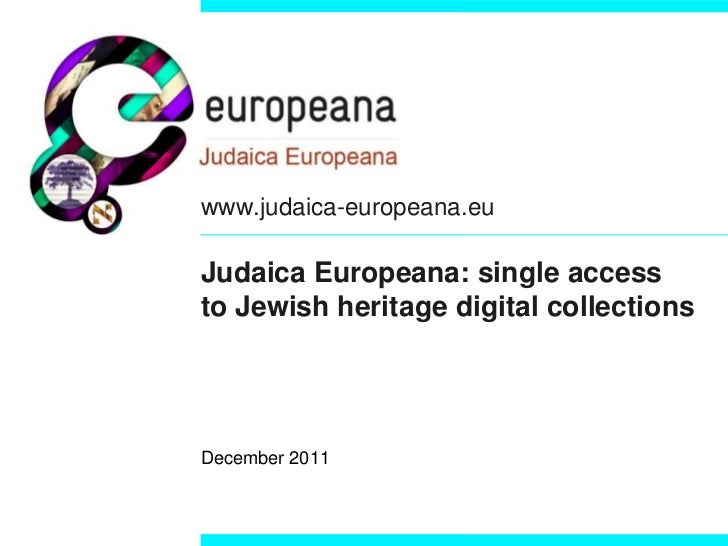 Judaica europeana part_one