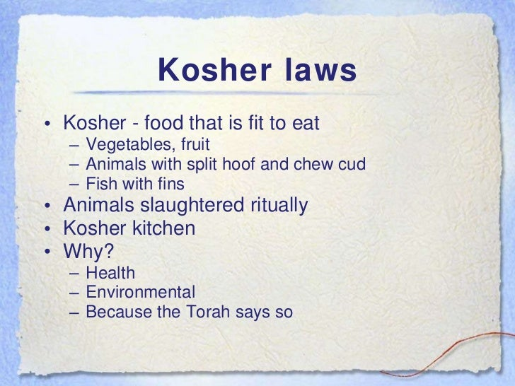 Judaism powerpoint for Keeping a kosher kitchen