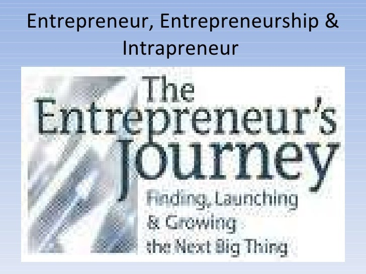 Entrepreneur, Entrepreneurship & Intrapreneur