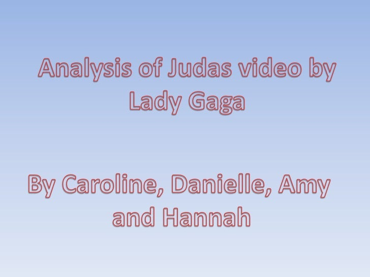 Analysis of Judas video presentation 1