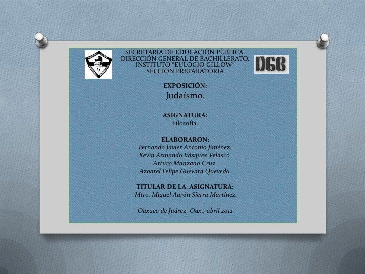 """SECRETARÍA DE EDUCACIÓN PÚBLICA.DIRECCIÓN GENERAL DE BACHILLERATO.    INSTITUTO """"EULOGIO GILLOW""""       SECCIÓN PREPARATORI..."""