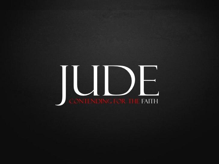 Jude Contending for the Faith