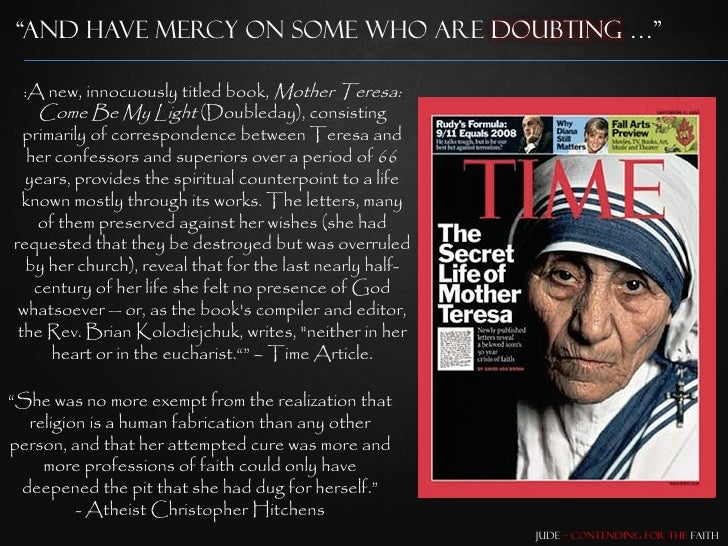 mother teresa her life and my feelings essay