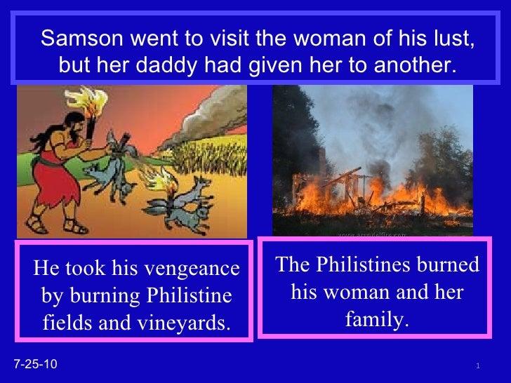 Judges 15 Samson's vengeance
