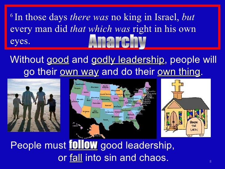 http://www.slideshare.net/dvtpreacher/judges-17-no-leader-chaos-and-sin