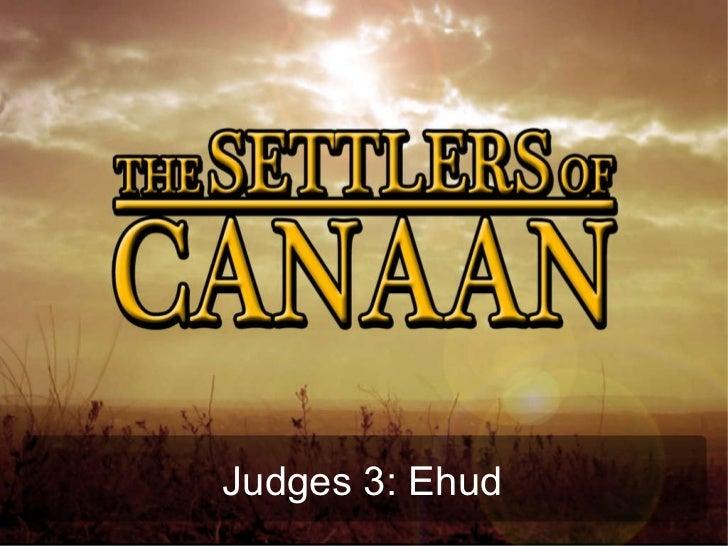 Judges 3: Ehud