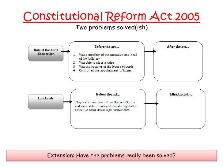 Constitutional reform act 2005 essay