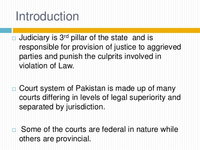 legal system of pakistan