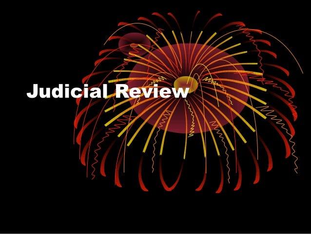Judicial review  as