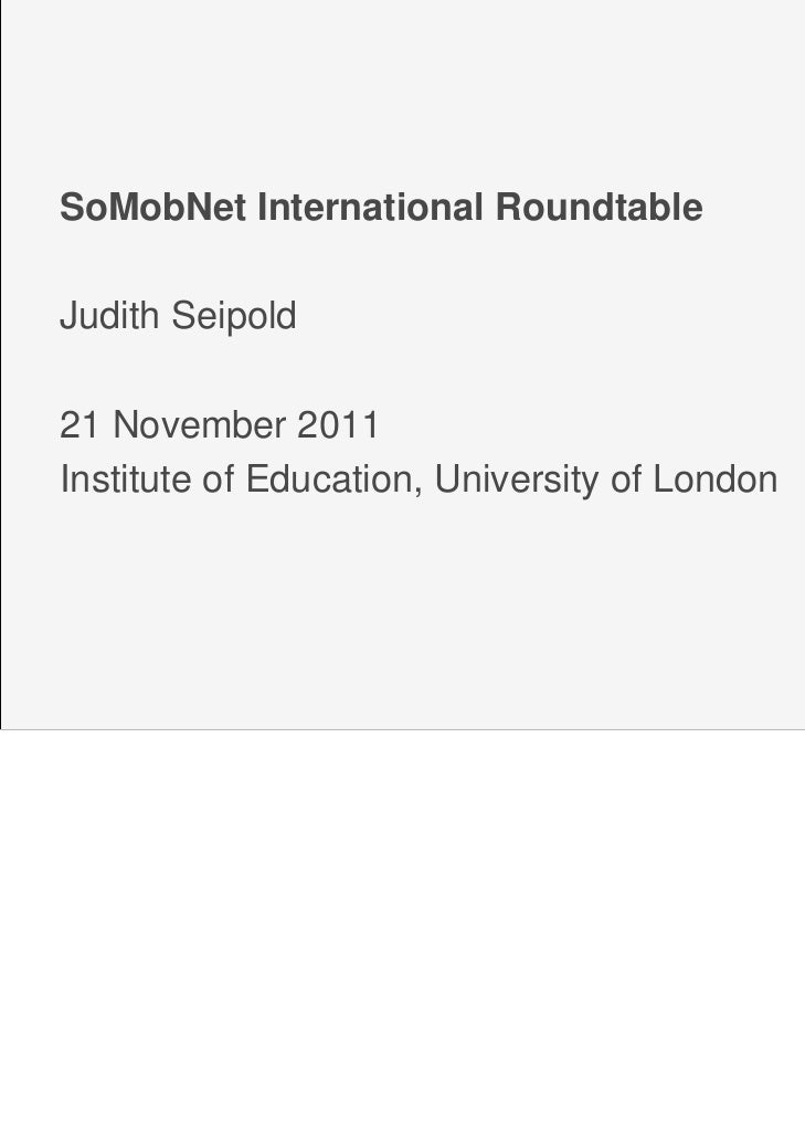 Judith Seipold: Mobile Learning – potential, controversies and implications for future R&P in networked (informal) learning