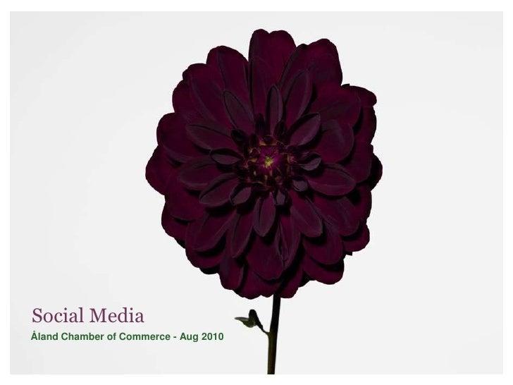 Näringslivsdagen 2010. Judith Wolst Social Media