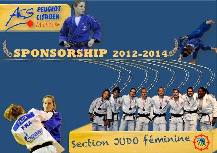 SPONSORSHIP 2012-2014       Section J UDO féminine