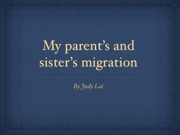 Judy6migration