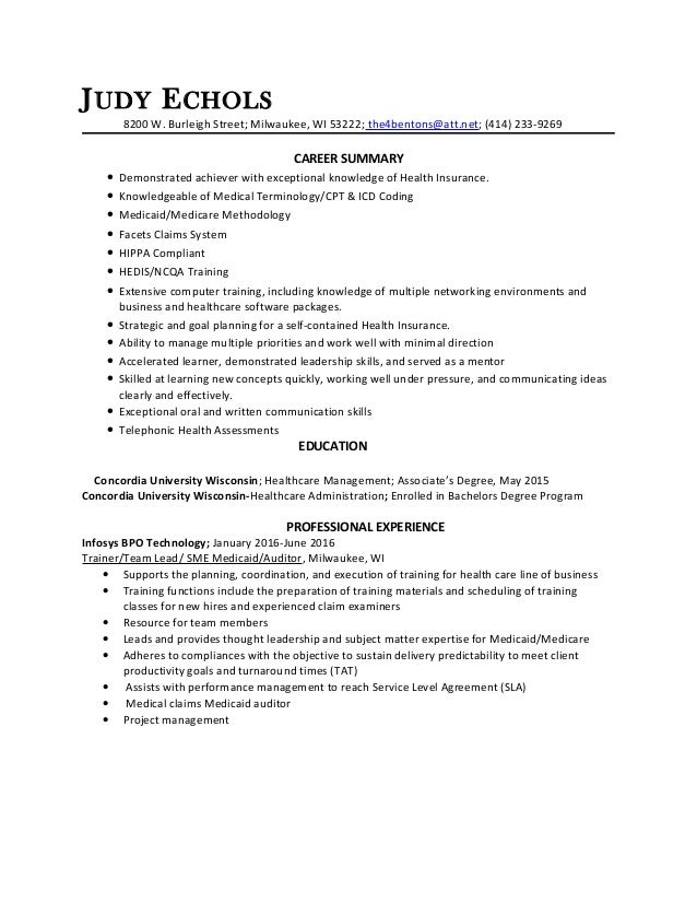 judy echols 2016 resume references attached