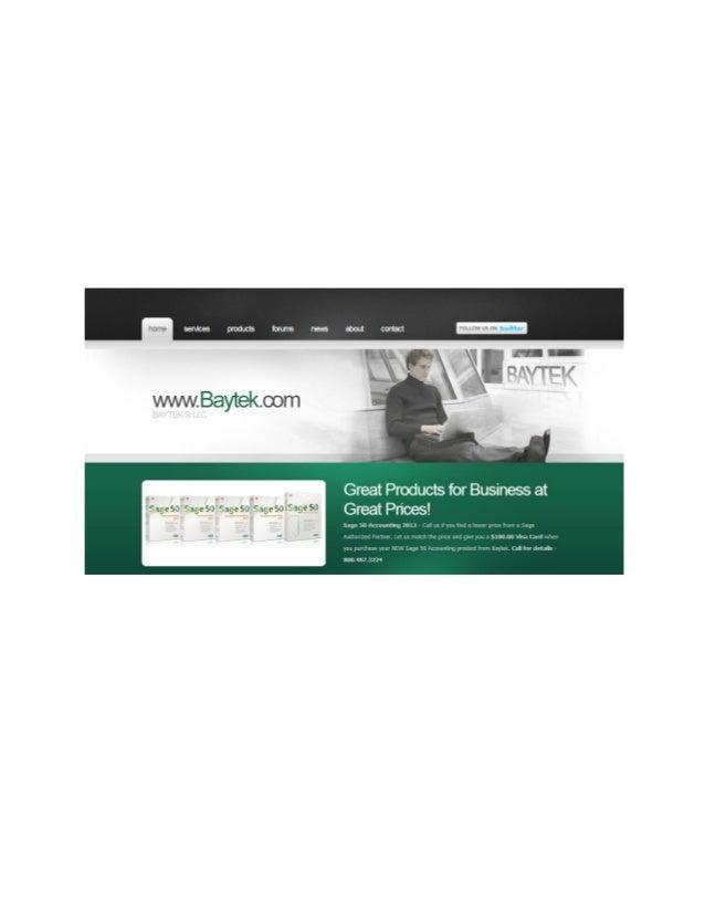 Baytek LLC                                   Small Business Firm                                Judy Thornell, President/C...